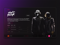 Music Player Artist page
