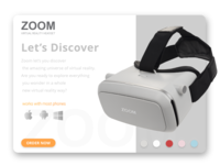 Zoom VR Headset Single Product Page