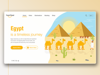 Travel Planet Egypt Landing Page