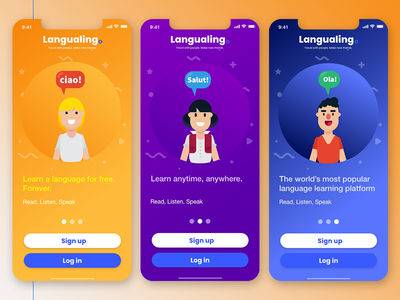 Langualingo Mobile App Concept Ui