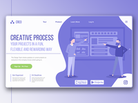Creo | Creative Work Process App Landing Page Concept