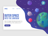 Outer Space Landing Page