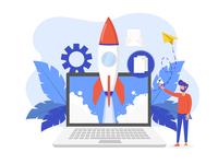 Startup Landing Page illustration