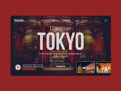 Travel Landing Page - Tokyo