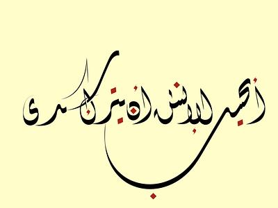 أيحسب الانسان ان يترك سدى vector design art graphic design illustration calligraphy typography