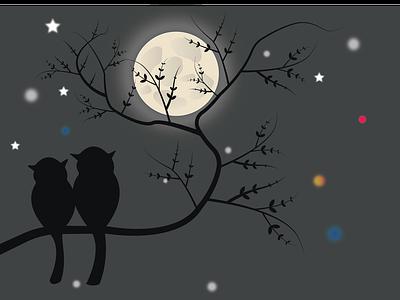 Moon Scenery art new design 2021 illustration nightlife moonshine moon illustrator