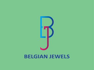Belgian Jewels abstract lettermark logo 2021 new design illustrator