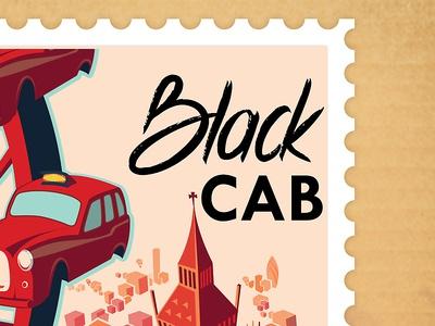 Black Cab Stamp