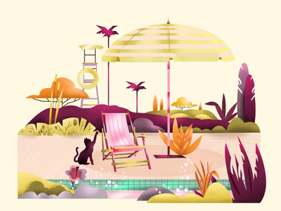 Swimming Pool graphic design pool palette minimalistic art design illustration art