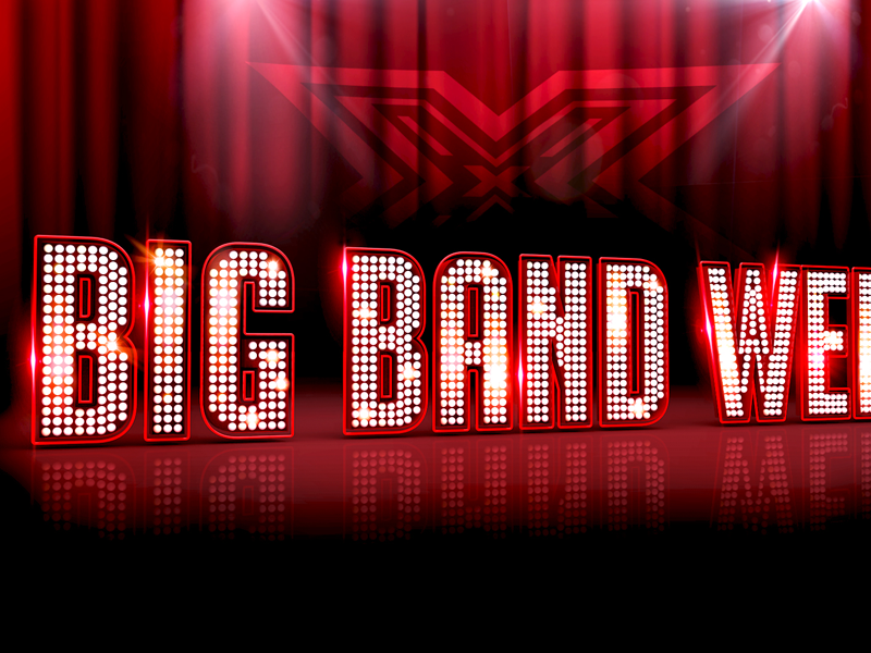 XFactor Big Band Week 3d banner lighting