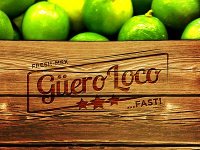Guero Loco rustic flyer brand mexican burrito limes