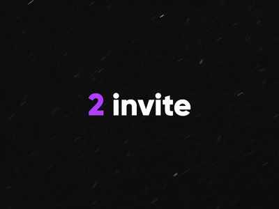 2 invite after effects ae gif animation designer creative new welcome invite