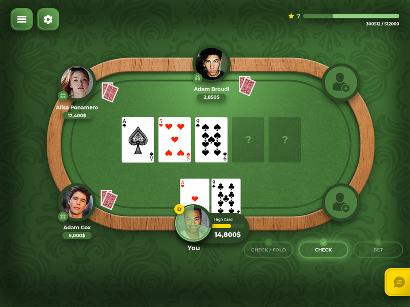 Poker Table creative design ux ui poker table casino table table game gambling casino poker