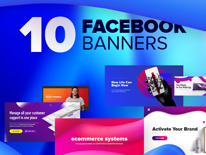 Facebook Banners post set puck advertise ads creative sell facebook banner