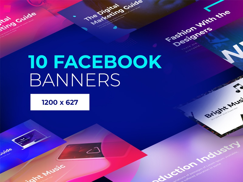 Facebook Banners #2 set pack post social facebook banner advertise ads