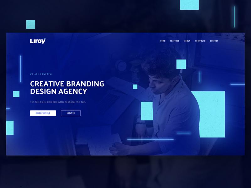 Liroy wordpress page builder web design template design studio home page elementor