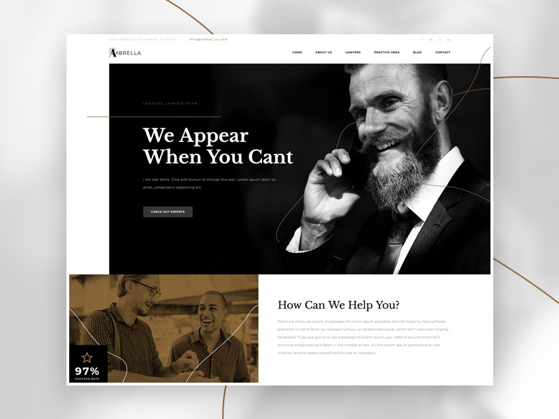 Lawyer Firm web design wordpress tutorial speed art home page lawyer photoshop elementor