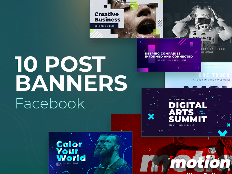 Facebook Post Banners #4 creative new fresh facebook pack set post banners social media
