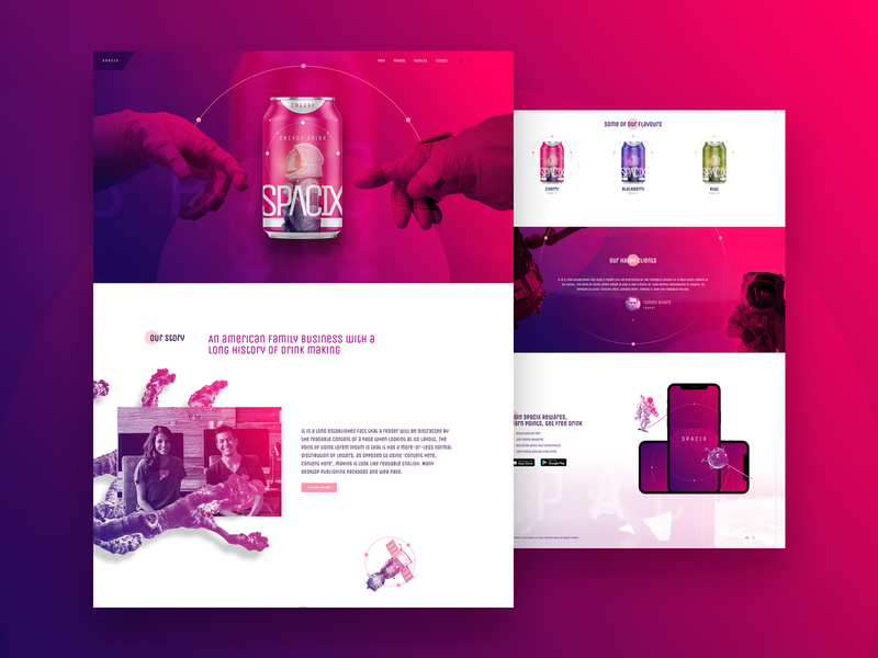 Energy Drink - Home Page ux ui energy drink pagebuilder wordpress page elementor