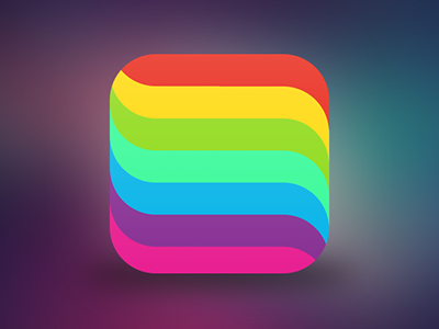 Instants App iOS 7 Icon colorful color rainbow ios app icon