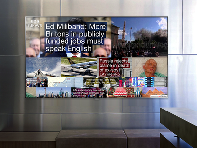Passive News physical news hardware software space tv office concept ui motion infovis ux