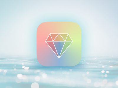 Executionist - App Icon colorful diamond gradient color specturm geometry pastel ios icon iphone ipad app