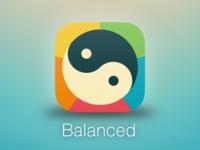 Balanced app icon rebound