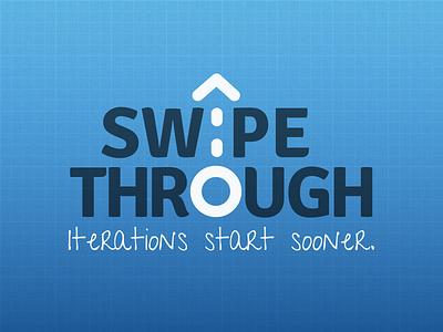 Swipe Through wireframing ux swipe gesture blueprint blue identity logo prototyping