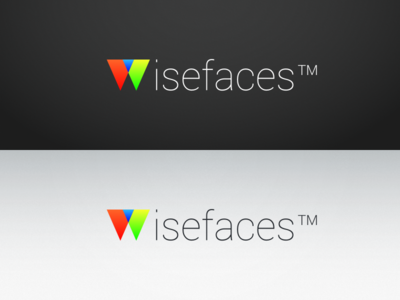 Wisefaces Branding WIP typography tm contrast w logo branding thin colors