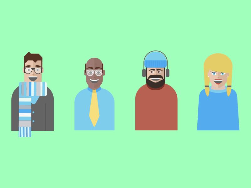 Truefriends illustration character design vector