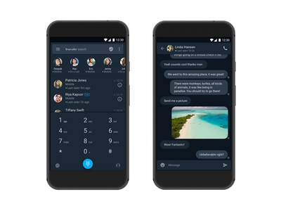 Truecaller 8.0 Dark Theme