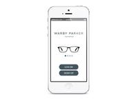 Warby Parker App - Start Up Screen