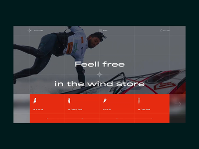 Wind Store kitesurfing windsurf windsurfing uxui firstshot adobexd webdesign animation anim sports design sport interaction