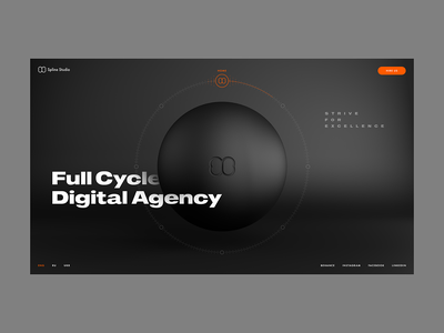 Web Site for Digital Agency web uxui ui corporate site digitalagency circle cinema4d web design c4d adobexd
