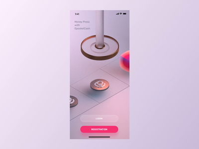 Cinema4D animation for the App Start Screen video ios app anim 3d 3d animation advertising tool cinema4d application app ui app design c4d