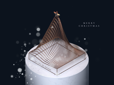 Xmas tree cinema4d digital agency happy christmas santa gift 3d merry xmas c4d christmas christmas tree
