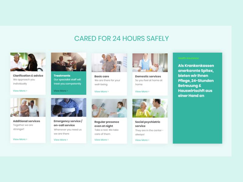 Spitexseeblick - Services design branding creative trending website dailyui ravidelixan service homepage adobe xd design app care hospitality hospital