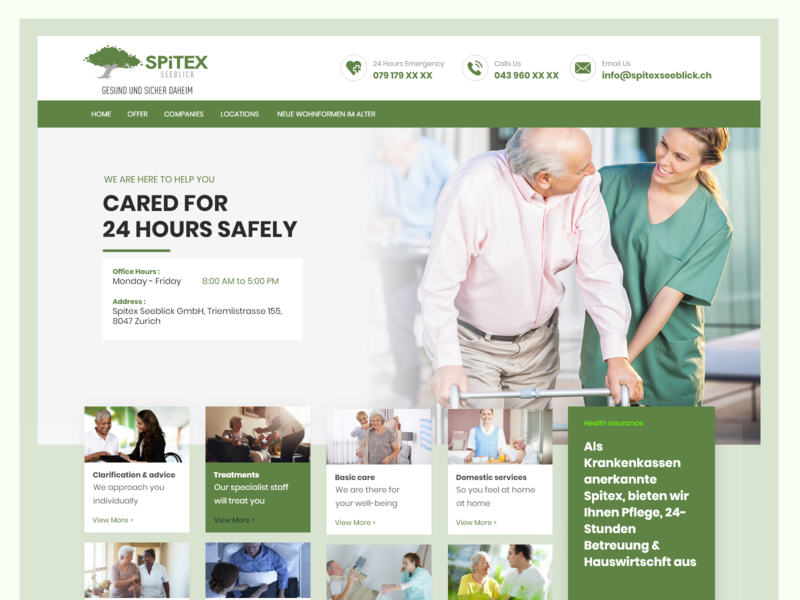 Spitexseeblick - Home Page landing page web interface landing clean design trending website dailyui creative ravidelixan