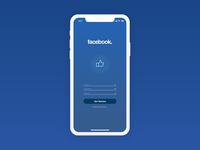 Facebook Sign Up UI