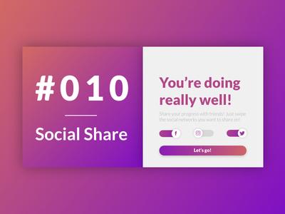 DailyUI #010 - Social Share