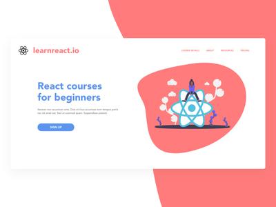 React Courses Landing Page