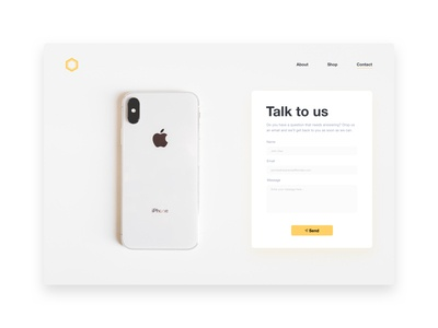 DailyUI #028 - Contact Page