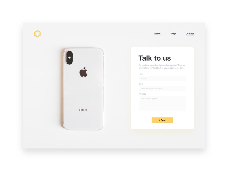 DailyUI #028 - Contact Page sketchapp sketch apple iphone web design web design minimal dailyui ux ui flat contact us form contact form contact page page contact