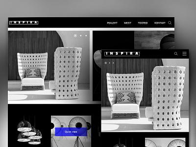 Design concept web shop web design mobile ux ui