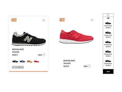 Clothing store concept magento web design ux ui