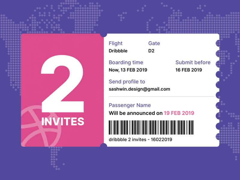 Dribbble Invites portfolio design dribbble invite dribbble invites giveaway boarding 2invites ticket draft invite debut
