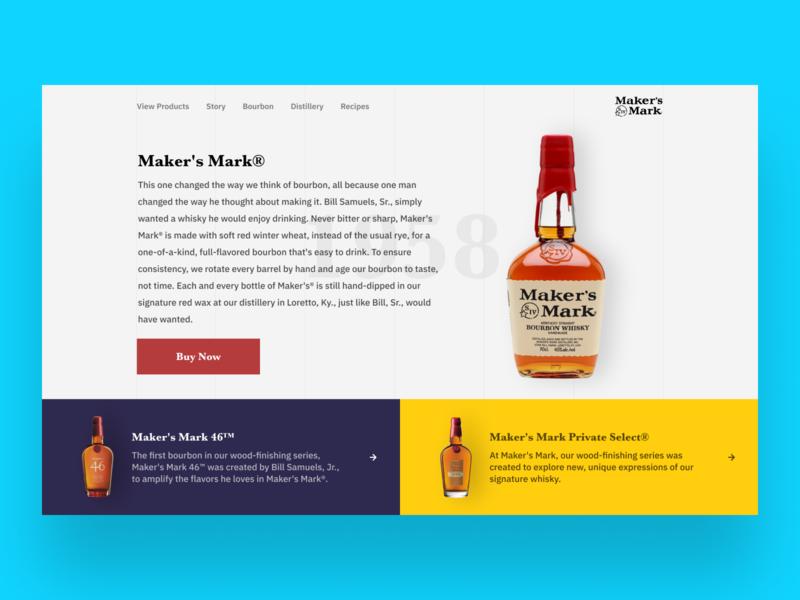 Maker S Mark - Website re-design concept clean design description navigation branding alcohol luxury concept ui ux landing page website