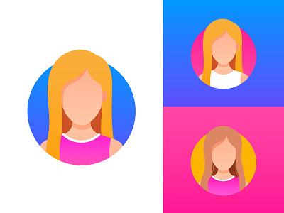 New Personal Avatar 👸🏼 emoji logo personal design avatar face character gradients minimal branding identity illustration