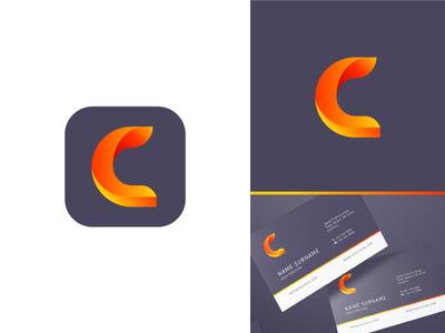 C Logo Design 🔥 3d money logomark c typography letter identity design minimal branding app gradients logo identity dailyui icon