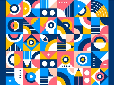 Geometry Pattern ⚪ 🔵 abstract layout language simple colors clean identity graphic design gradient pencil pattern background shape elements shapes illustration minimal flat geometric design geometric art geometry